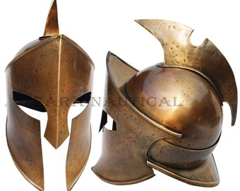 Spartan Roman Medieval Centurion Armor Helmet Viking 300 Costume Helmet Liner  sc 1 st  Etsy & Spartan costume | Etsy