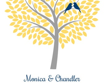 Wedding Guestbook Tree - Digital File, Any Size