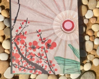 Blossom Brush Painting Altered Composition Notebook
