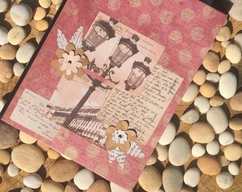 Lamplights and Letters Altered Composition Notebook