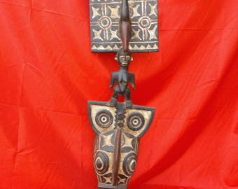 Large Gurunsi Plank Mask African tribal art Burkina Faso