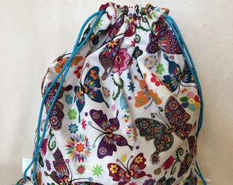 Butterfly ecofriendly reusable waterproof bag