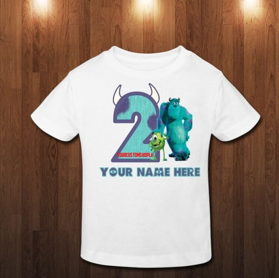 Monsters Inc Custom Birthday Shirt Sully And Mike