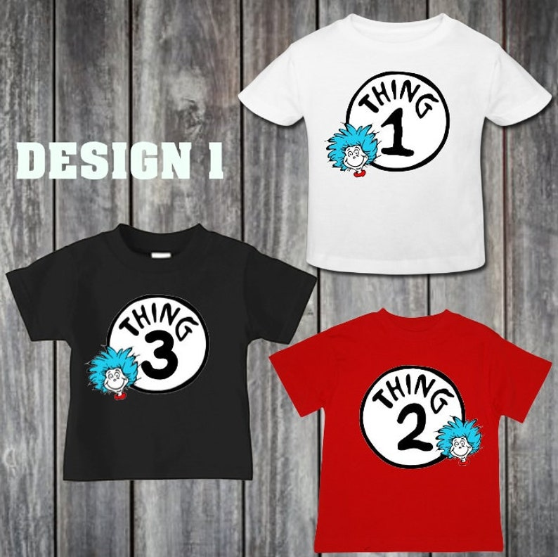 d2b93e2a4c Thing 1 and thing 2 toddler shirts matching shirts toddler | Etsy