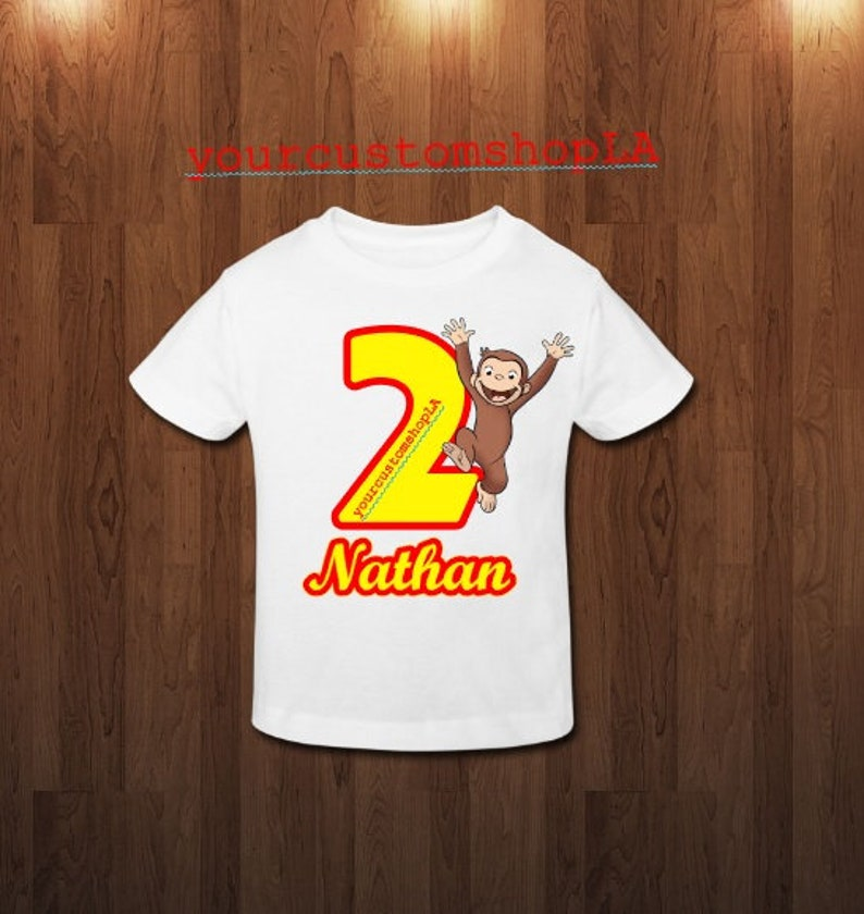 bf796969c Curious george personalized shirt curious george birthday | Etsy