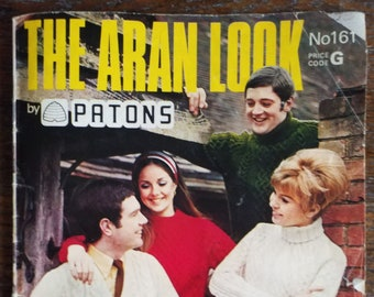 PATONS Aran knitting patterns for men and women - including socks,leggings, coats and dress