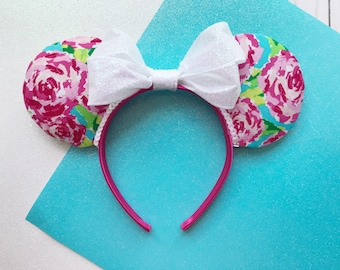 Lilly Rose Pattern Ears | Flower and Garden Minnie Ears