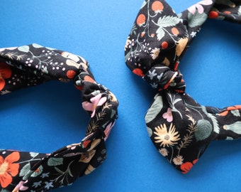 Strawberry Fields (Black) Rifle Paper Co Bowband or Knot Headband