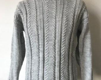 Vintage grey knitted sweater