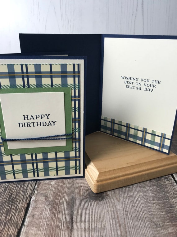Handmade Masculine Birthday Card Etsy