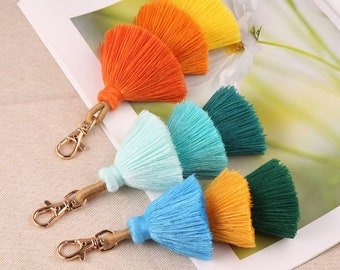 3 Layer Tassel Stack Keychain Gift for Her Gift for Women keyring decoration for handbags straw bag beach bag tote bag purse charm