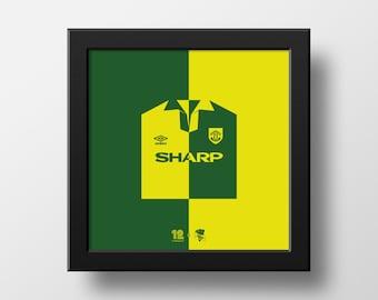 Manchester United iconic Newton Heath 92-94 third shirt
