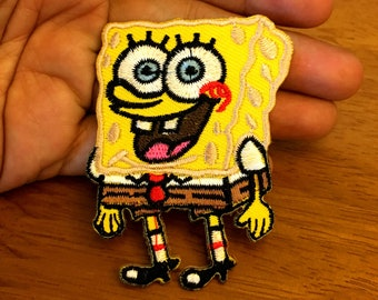 SpongeBob Square Pants Cartoon Embroidered Applique Iron On Patch