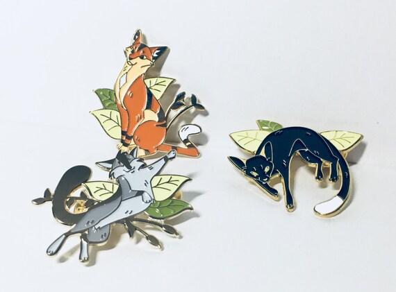 Warrior Cats Enamel Pins Cat Pin Soft Enamel Pin Etsy
