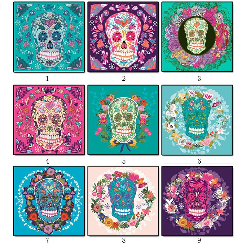 5D DIY Diamond Painting Color Skull Cross Stitch Full Drill 3D Diamond  Painting kit Sticker Home Decoration Gifts