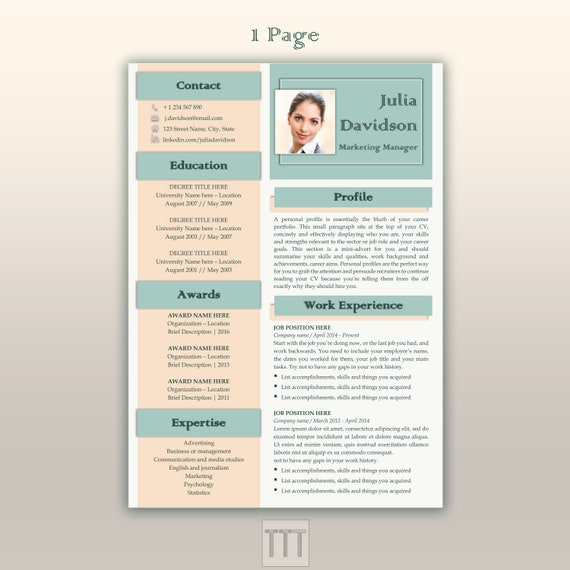 marketing reprendre mod u00e8le cv moderne bundle cv google doc