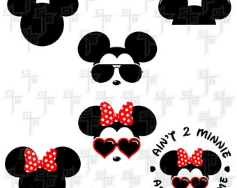 Cute Disney Mickey/Minnie Mouse Bundle svg Hipster Svg PNG Files Svg Files for Silhouette Cameo Svg Files for Cricut Files for Girls