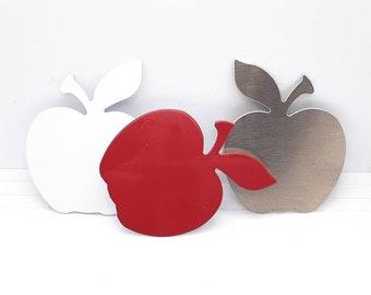 Apple Blanks, Large Apple Blanks, Aluminum Apple Blanks, Apple Ornaments, Teacher Ornaments, Raw Stamping Blank, Unfinished Blanks, Burred