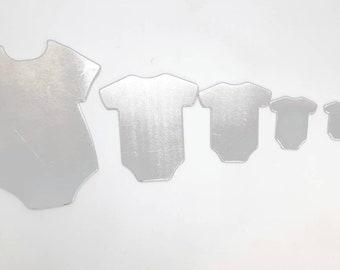Baby Blanks, Baby Body Suit Metal Blanks, Baby T shirt Blanks, Aluminum Blanks, Metal Stamping Blanks, Raw Stamping Blank, Unfinished Blanks