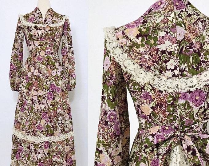THIS IS YOURS   1970s floral maxi dress