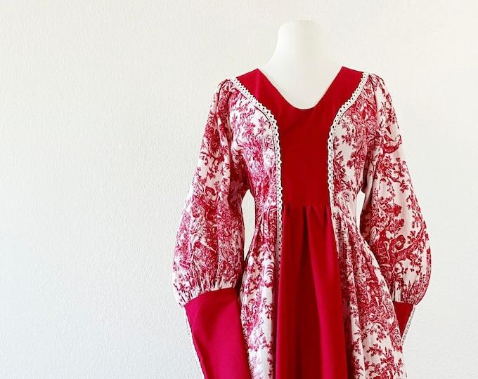 Featured listing image: GUNNE SAX | 1960s Black -Label Toile De Jouy Maxi Dress -