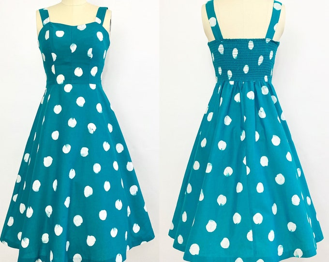 1970s Polka Dot Cotton Sundress