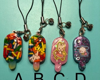 Popsicle phone charms