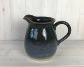 Ceramic Jug Reactive Blue Glazed