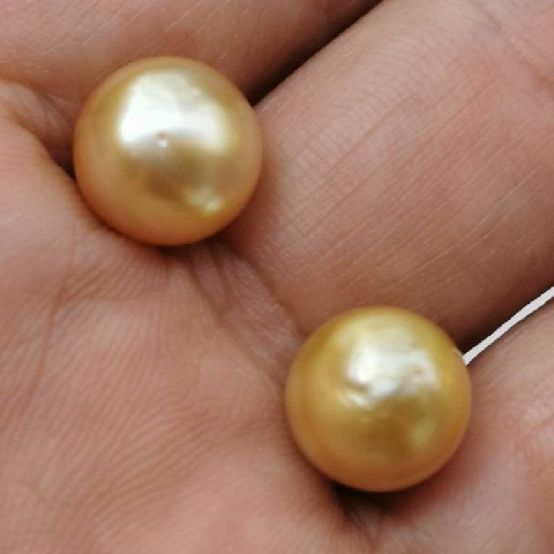 jewelry Supply for Pendant or Ring, Golden Potato  baroque  Loose Pearls South Sea Pearl