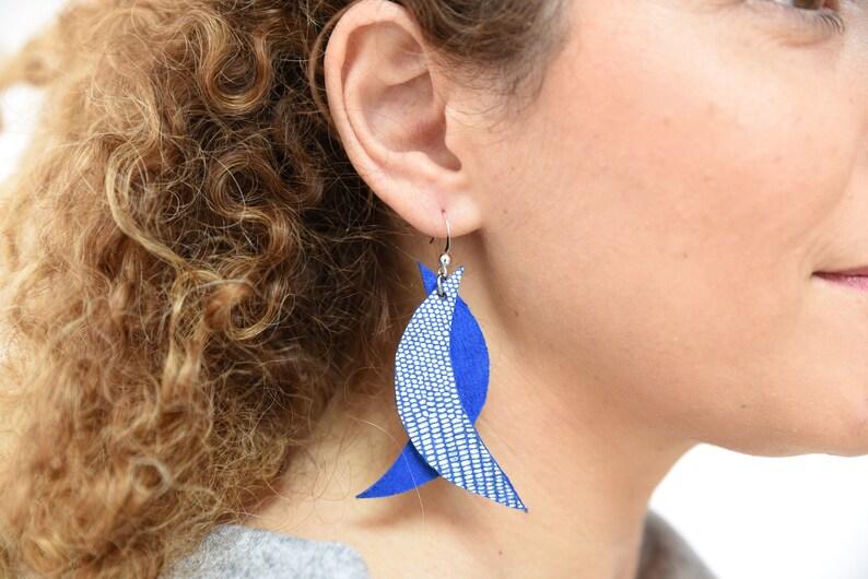 geometric earrings,leather earrings,dangle earrings,moon earrings,boho earrings,long earrings,statment earrings