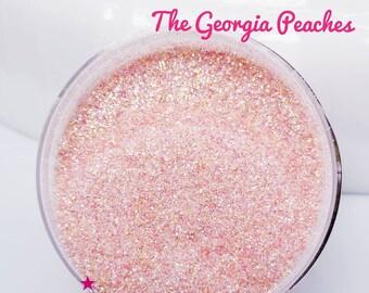 NEW The Georgia Peaches - Glitter - Orange/Pink Glitter - Peach Glitter - Peach Ultra Fine Glitter - Peach Translucent Glitter - Polyester