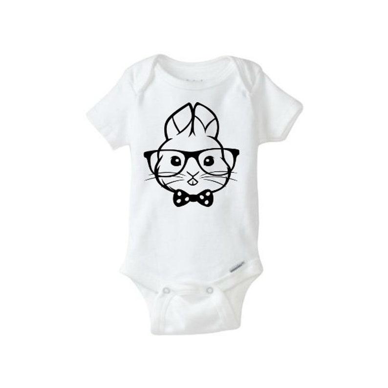 Kids // Childrens Hoodie Glasses Moustache Bowtie Funny 7 Colours