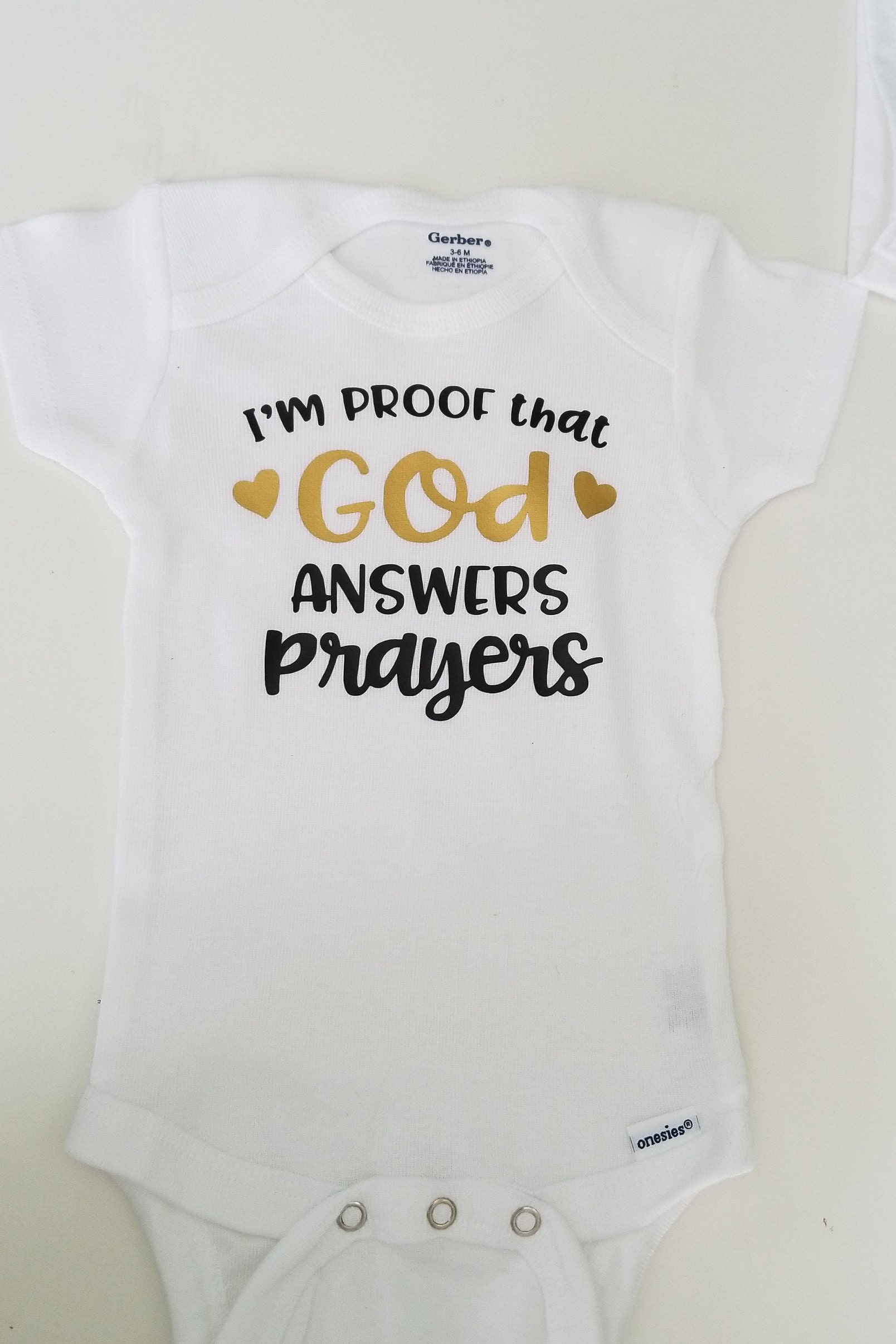 720a30e3d79c I m Proof God Answers Prayers Funny Baby Baby Shower