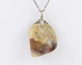 Agate pendant-Natural Stone Pendant Necklace-Vintage pendant-Pendant Jevelri