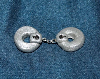 1/12 scale handcuffs with chain