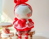 crochet doll for sale, amigurumi doll for sale, valentine's gift, valentine angel amigurumi doll, valentine angel doll, gift valentine's day