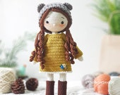 IN STOCK - Crochet Doll For Sale, Amigurumi Cuddle Dolls, Amigurumi Girl, Crochet Amigurumi for sale, Gifts For Children, Amigurumi princess