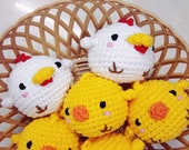 Baby chicken keychain (Set of 3 items)
