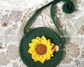 Crochet daisy flower bags sewed lining fabric inside, handmade flower bags, handmade Crossbody bag, crochet crossbody bag, summer flower bag