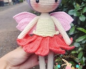 Christmas Gifts, Amigurumi Fairy Doll, Crochet Amigurumi Cuddle Doll, Crochet Fairy Doll, Stuffed toy, Baby gifts, Crochet doll for sale