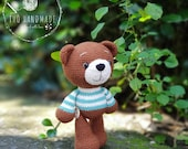 Crochet Doll For Sale, Crocheted Amigurumi Teddy Bear, Crochet Amigurumi For Sale, Classic Teddy, Gifts For Children, Amigurumi Toys for kid