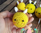 Crochet Bee Keychain, Crochet Keychain, Amigurumi Bee, Crochet Keyring, Keychain, amigurumi keychain, amigurumi toys for sale, Gift For Her