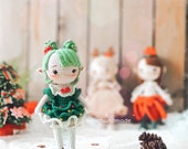 Crochet Christmas Tree Elf Amigurumi, Crochet Princess Elf + Set of clothes Christmas tree, Crochet Doll For Sale, Christmas Tree Elf Doll