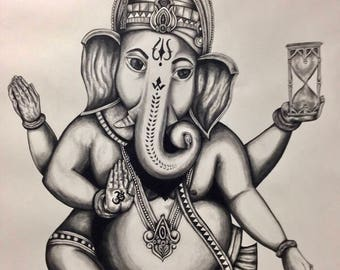 art, fine art, charcoal, drawing, illustration, elephant