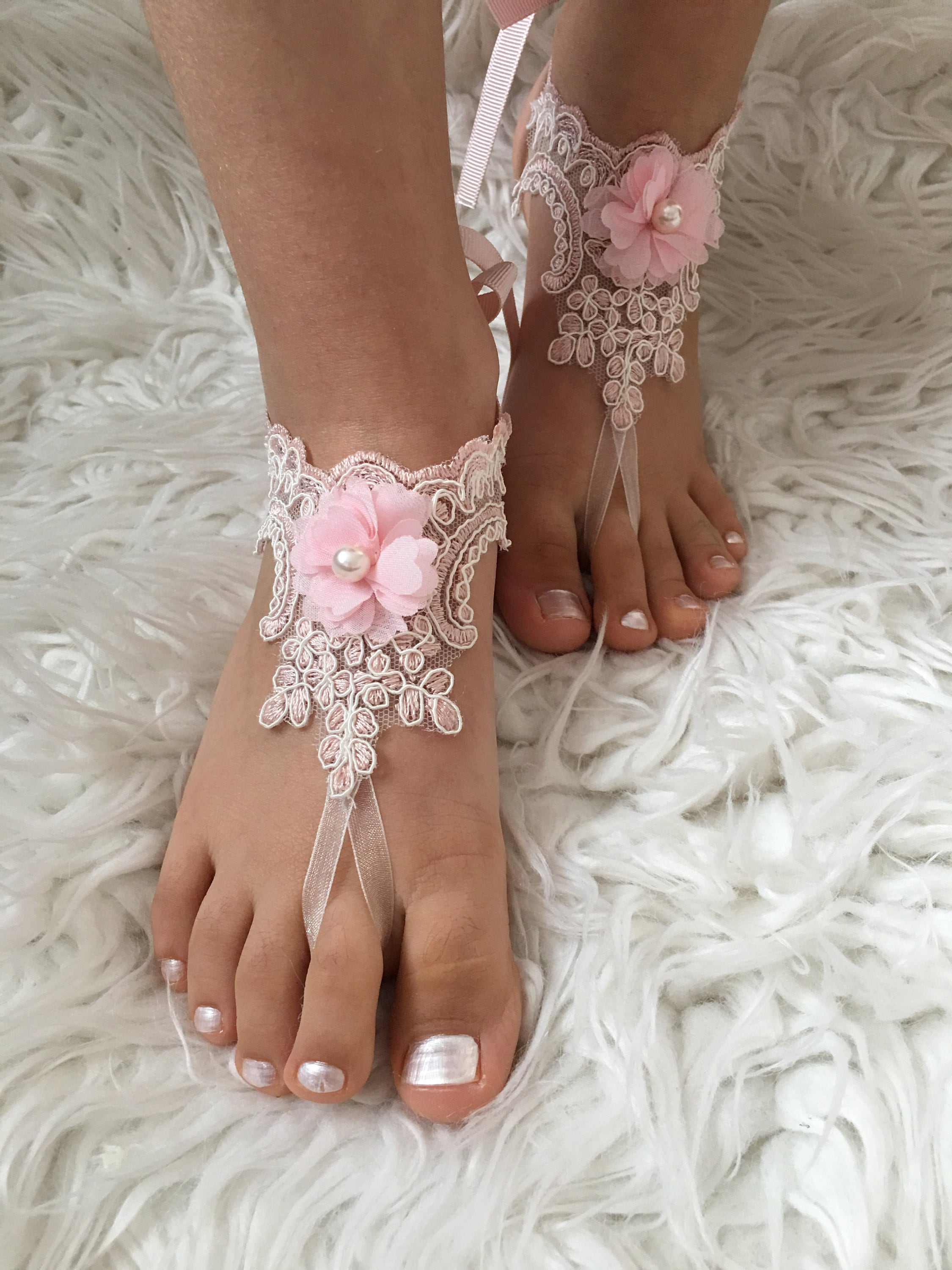 be463fa5f615 Flower Girl Barefoot Sandals