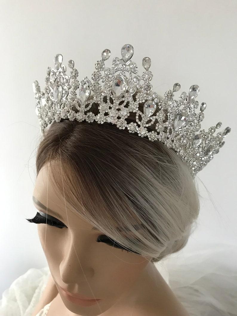 Silver Tiara Bridal Crown Crystal Wedding Tiara Wedding Hair Accessory Wedding Headpiece Bridal Hairpiece Swarowski Crystals