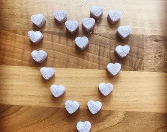 Lilac Heart Sugar Cubes