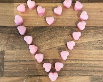 Baby Pink Heart Sugar Cubes