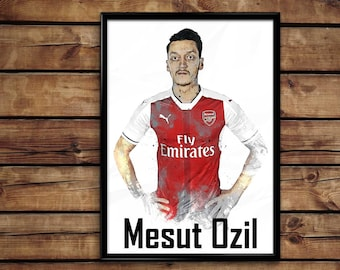 8303b3ba0 Mesut Ozil print wall art home decor poster