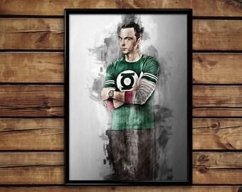 Sheldon poster Sheldon Cooper print Big bang theory  wall art home decor